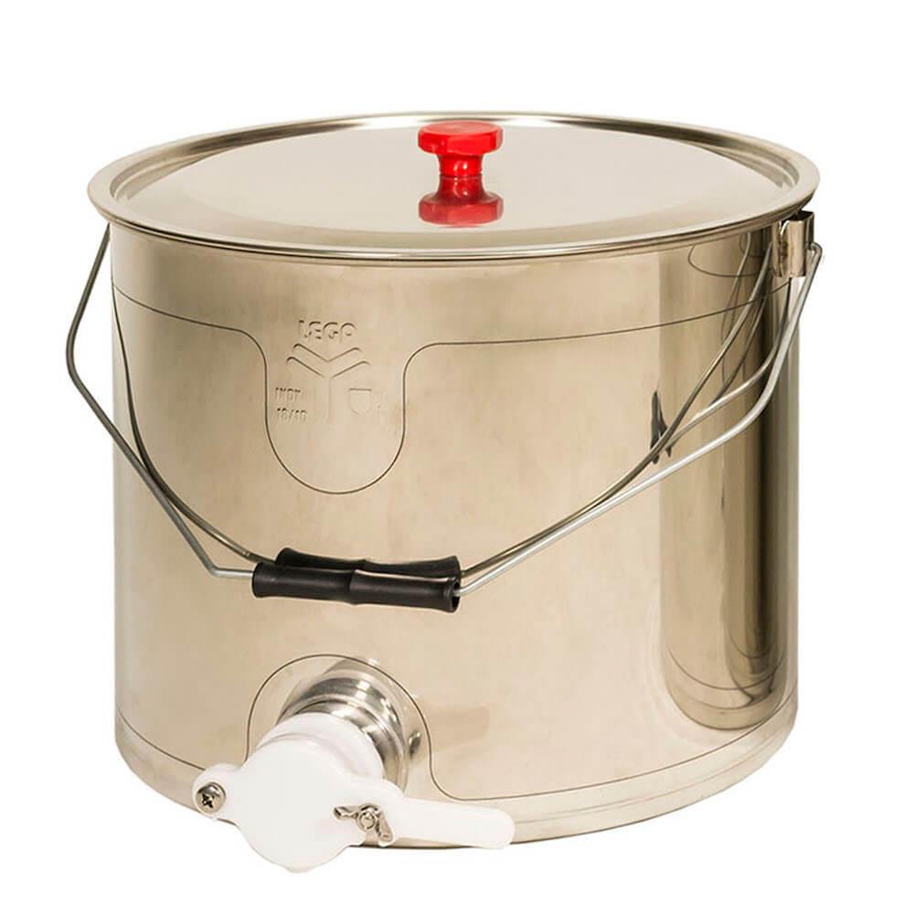 Seau à miel inox avec robinet (25 kg)